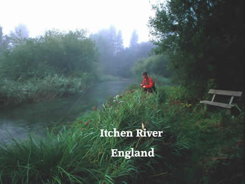Itchen River England; Famed Chalk Stream at Private Waters Versus Public at www.riverscientist.com